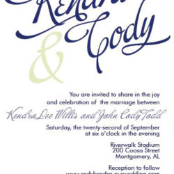Wedding Invitations - Kendra & Cody