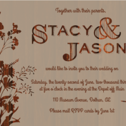 Wedding Invitations - Stacy & Jason