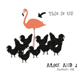Alice & Jay T-Shirt - Flamingo