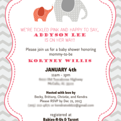 Shower Invite - Baby Addyson