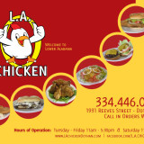 Menu Card - L.A. Chicken