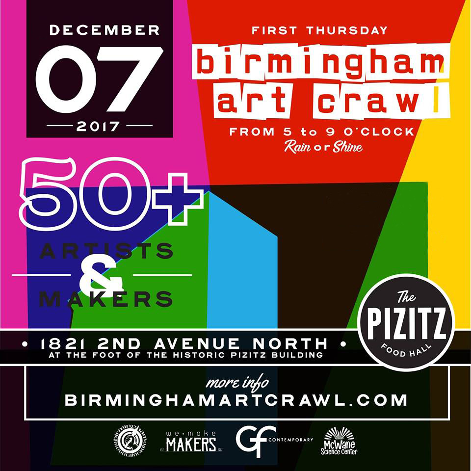 Birmingham Art Crawl – Dec 2017