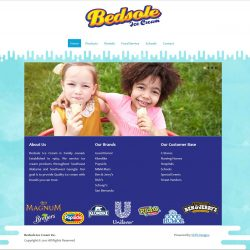 Bedsole Ice Cream - Full Website Design